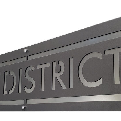 Gray Color Option with silver letters (Sample)
